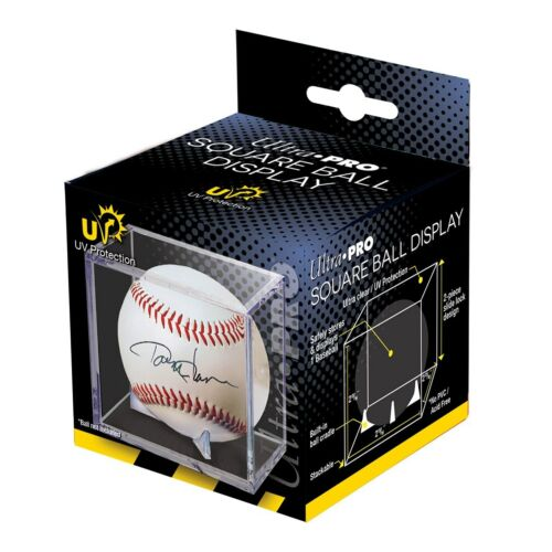 Ultra Pro Baseball Display Case Cube With Cradle, UV Protection  (12 QTY )